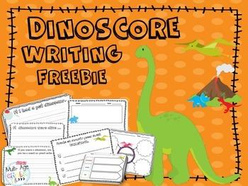 Dinosaur Writing Prompts {Freebie}