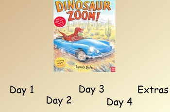 Dinosaur Zoom Guided Reading Weekly Lesson Plan - Four Blo