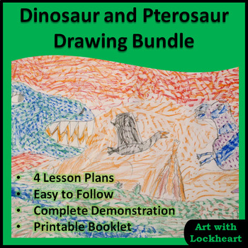 Dinosaur and Pterosaur Drawing Tutorial Bundle