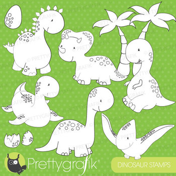 Dinosaur stamps commercial use, vector graphics, images - DS452