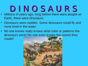 Dinosaurs- Common Core