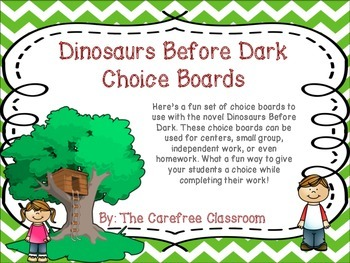 Dinosaurs Before Dark Choice Boards