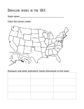 Dinosaurs By State