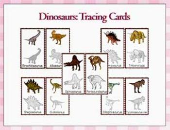 Dinosaurs: Dinosaur Tracing Cards