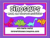 Dinosaurs Math and Literacy Activities