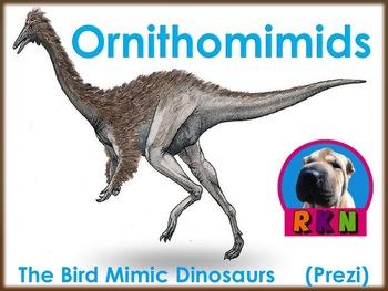 """Dinosaurs: Ornithomimids - """"The Bird Mimics"""" (Prezi)"""