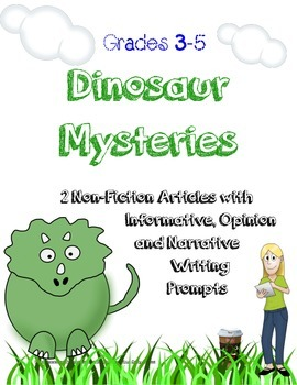 Dinosaur Mysteries~Paired Texts and 3 Writing Prompts~ No