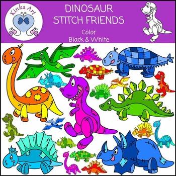 Dinosaurs - Stitch Friends Clip Art