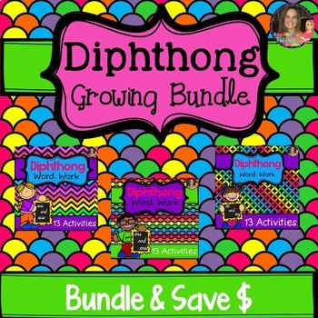 Diphthong Word Work Bundle
