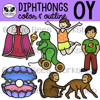 Diphthong OY Clip Art