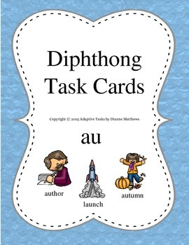 Diphthong Task Cards