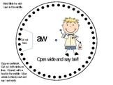 Diphthong - aw word wheel