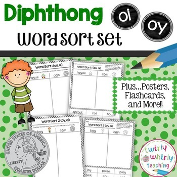 Diphthong oi, oy Word Sort Set