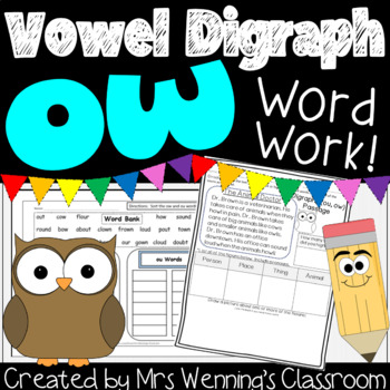 Diphthong ow! A Week of Lesson Plans, Activities, and Word Work!