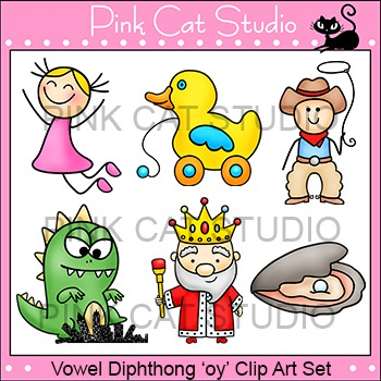 "Diphthong ""oy"" Phonics Clip Art Set - Commercial Use Okay"