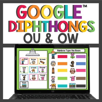 Diphthongs OW and OU Activities