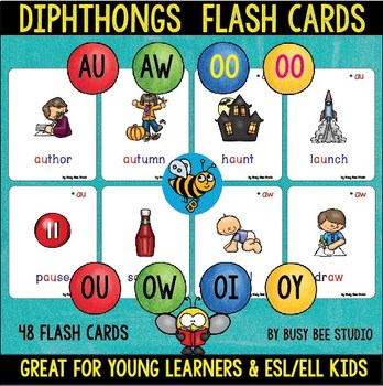 Diphthong Flash Cards