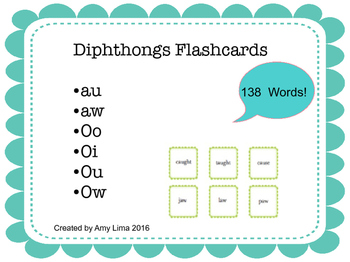 Diphthongs Flashcards