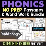 Diphthong No Prep Printables {au & aw, oi & oy, ou & ow, o