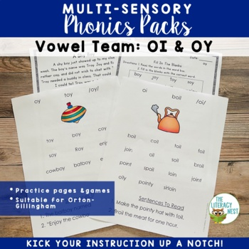 Diphthongs OI and OY Phonics Activities Multisensory to Su