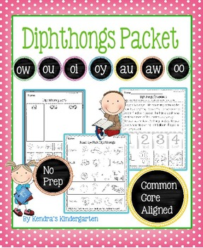 Diphthongs Packet - No Prep - Common Core Aligned