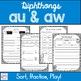 Diphthongs aw au
