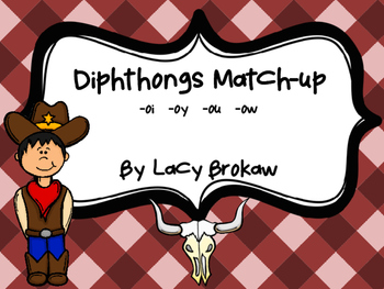 Diphthongs oi oy ou ow Matching game