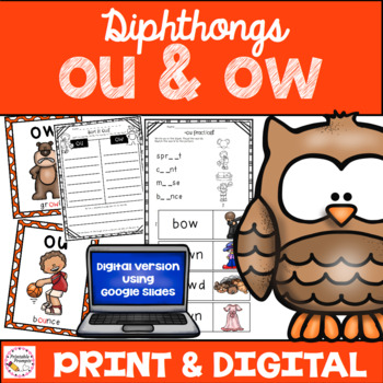 Diphthongs ou ow Practice Activities