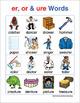 Dipthong & Digraph Word Charts