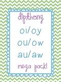 Dipthong Mega Pack oi/oy ou/ow & au/aw