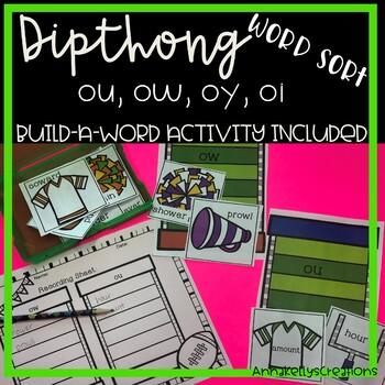 Dipthong (oy,oi, ow,ou) word sort, fall, football