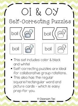 Dipthongs: OI & OY Self-Correcting Puzzles