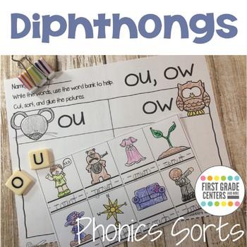 Dipthongs: Phonics Sorts