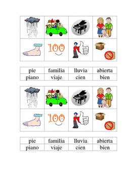 Diptongos ia, ie- Spanish Literacy Center- Phonics