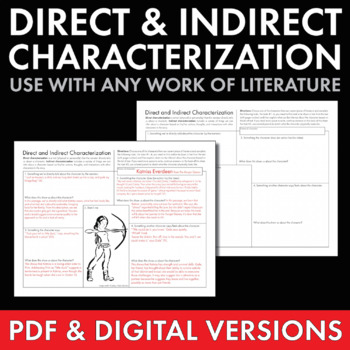 Direct & Indirect Characterization, Fun Print-and-Teach Ha