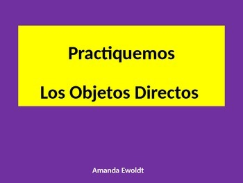 Direct Object Pronoun Practice with shopping and stores vo