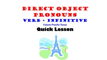 Direct Object Pronouns in French: Future Proche, Infinitives