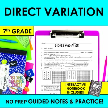 Direct Variation Notes