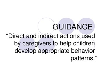 Direct and Indirect Guidance Power Point Presentation