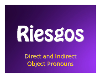 Spanish Direct and Indirect Object Pronoun Jeopardy-Style