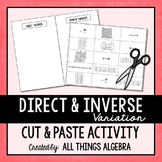 Direct and Inverse Variation Cut and Paste Activity