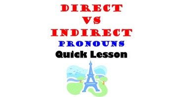 Direct vs Indirect Object Pronouns in French: All Tenses