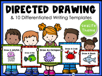 Directed Drawing With Writing Prompts Sea Life (45 pgs) Wh