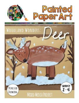 Art Lesson: Directed Drawing: Woodland Wonders - Deer
