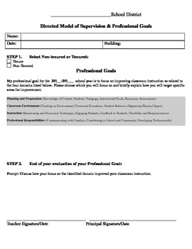 Directed Supervision Template