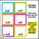 Direction Cards with Pictures {Bright Chevron Theme w/ edi
