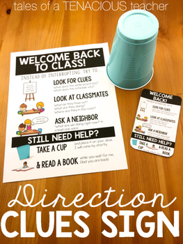 Direction Clue Sign