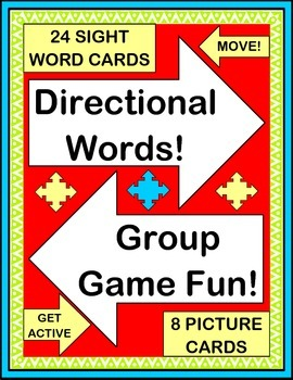 """""""Directional Words!"""" -- Active Group Game, Craft, Song, an"""