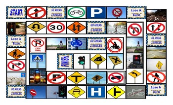 Directions & Street Signs Board Game