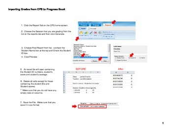 Directions for Importing Grades from CPS to Progress Book